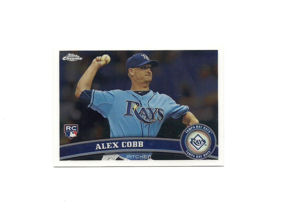 Alex Cobb 2011 Topps Chrome Card #207 Tampa Bay Rays