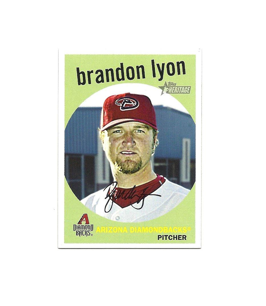 Brandon Lyon 2008 Topps Heritage Card #553 Arizona Diamondbacks/Toronto Blue Jays