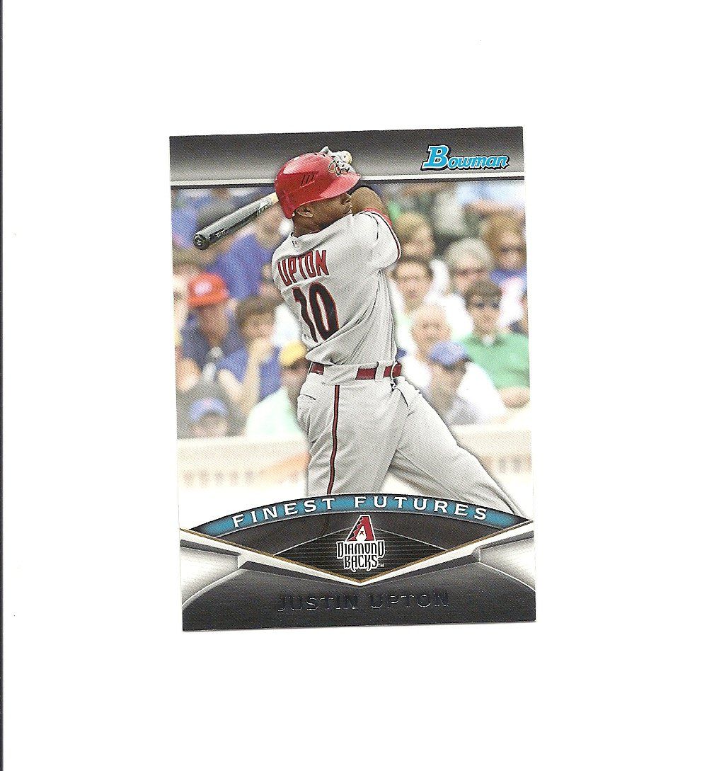 Justin Upton 2011 Bowman Finest Futures Card #FF19 Arizona Diamondbacks/Atlanta Braves