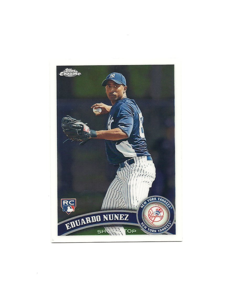Eduardo Nunez 2011 Topps Chrome Rookie Card #198 New York Yankees