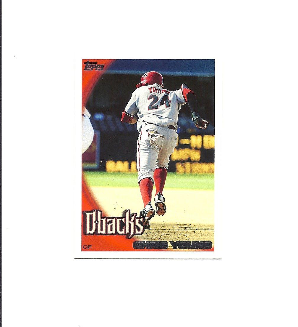 Chris Young 2010 Topps Card #316 Arizona Diamondbacks