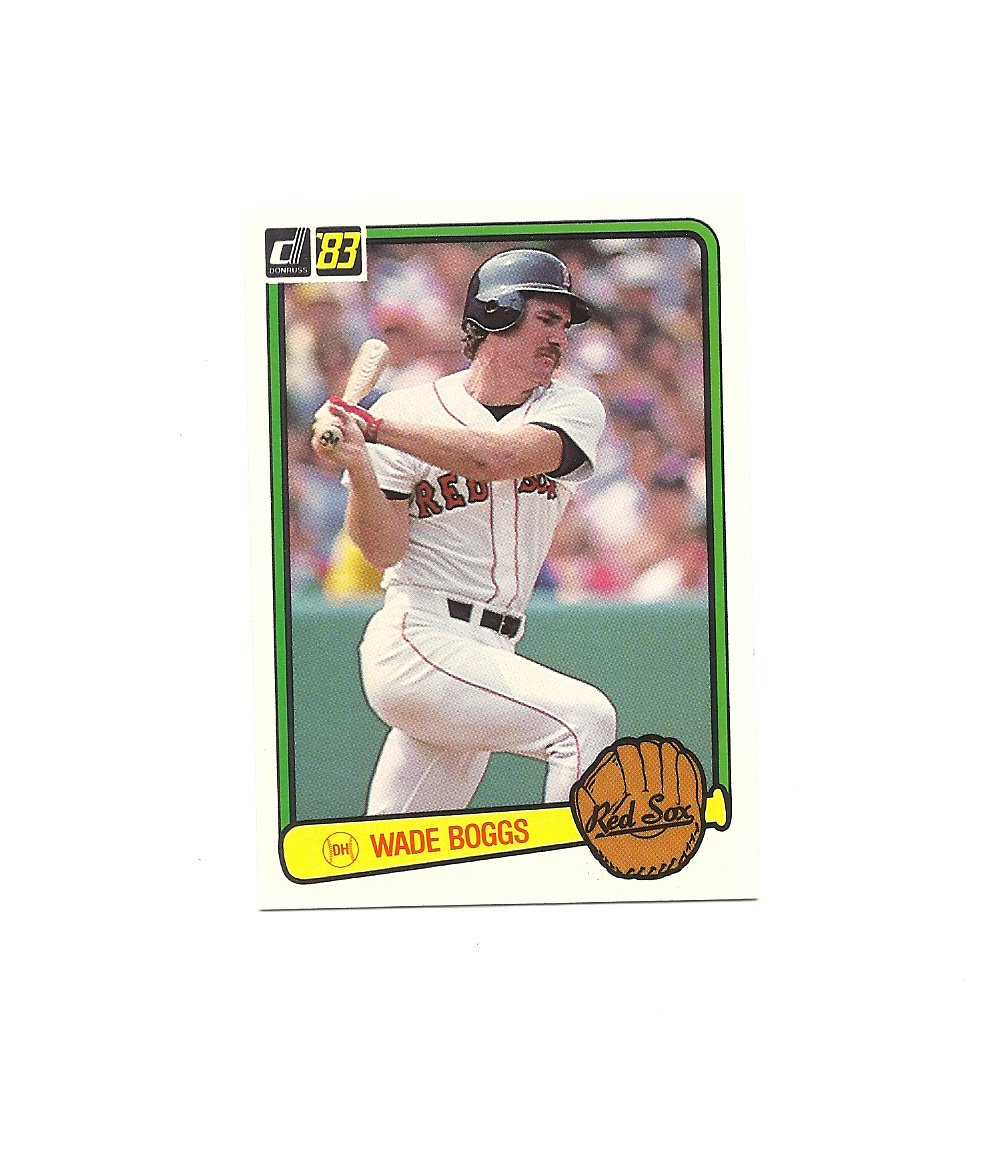 Wade Boggs 1983 Donruss Rookie Card #586 Boston Red Sox