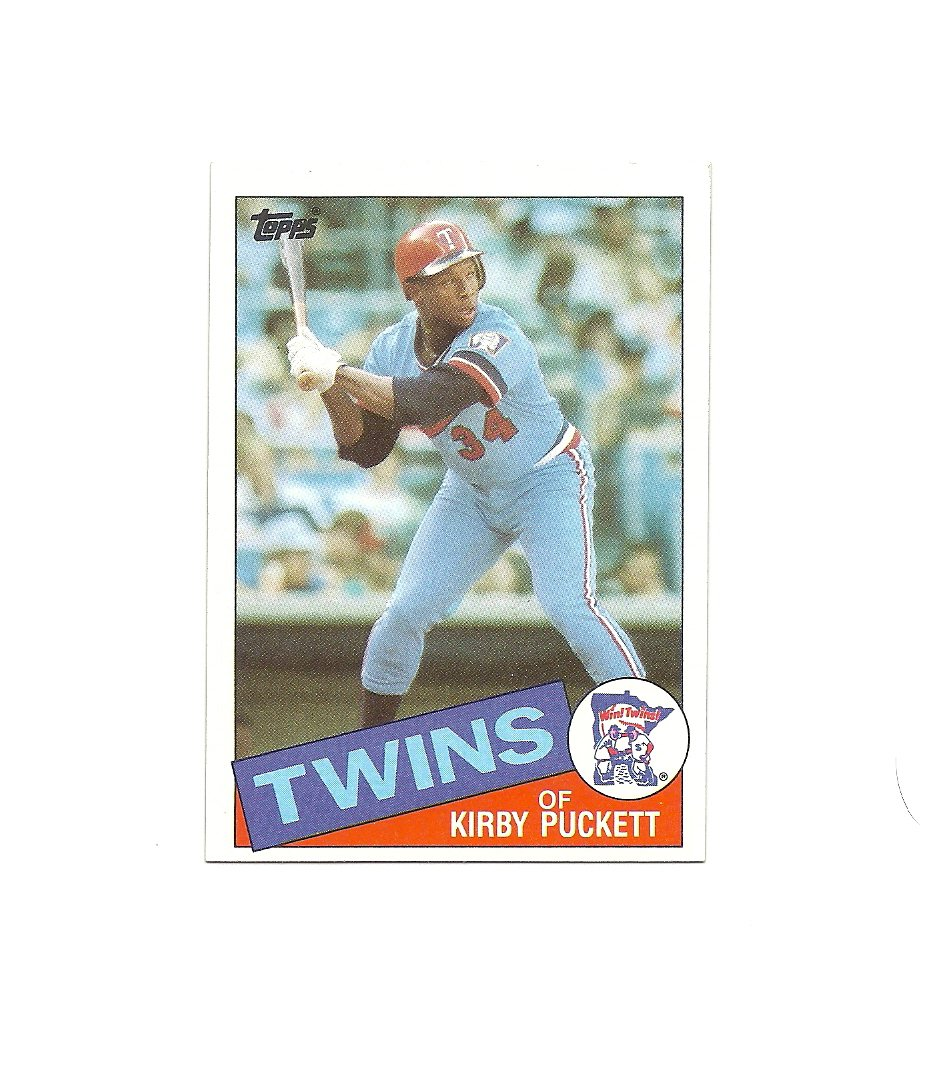 Kirby Puckett 1985 Topps Rookie Card #536 Minnesota Twins