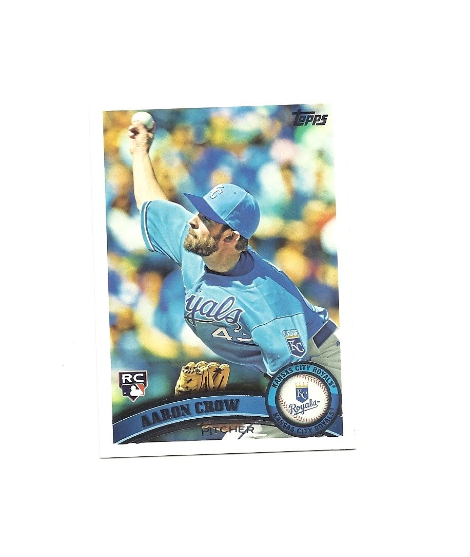 Aaron Crow 2011 Topps Rookie Card #633 Kansas City Royals