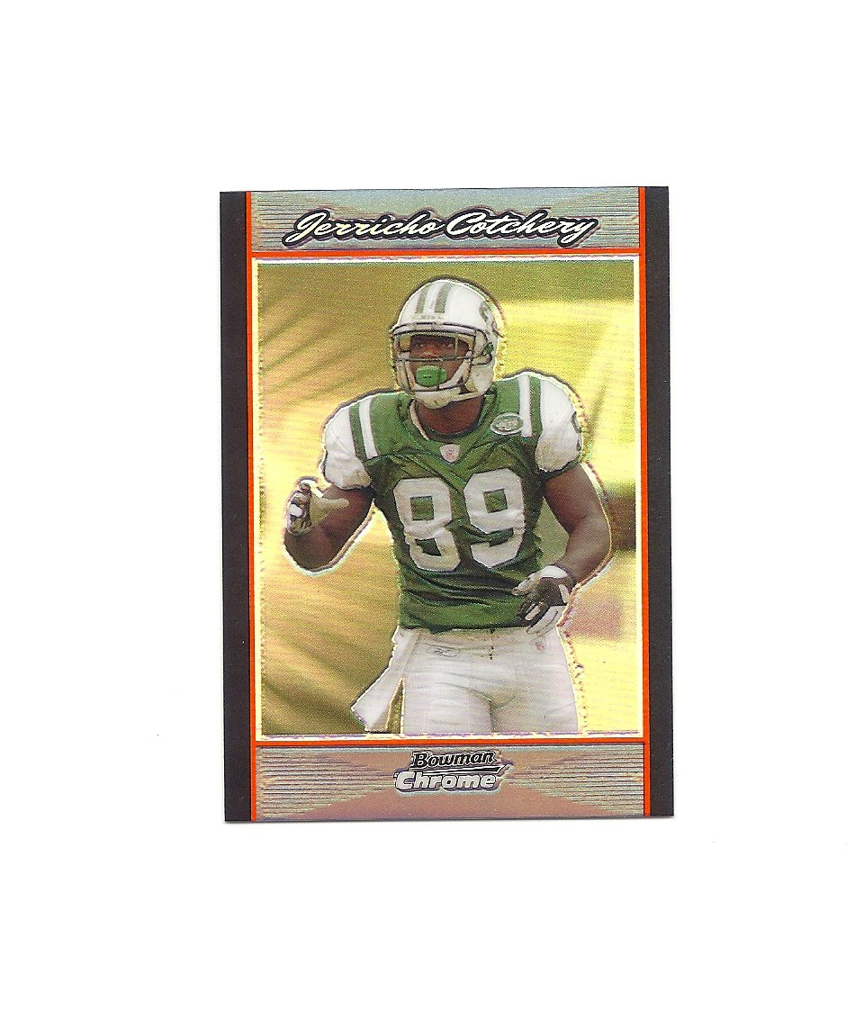 Jerricho Cotchery 2007 Bowman Chrome Refractor #BC206 New York Jets/Carolina Panthers
