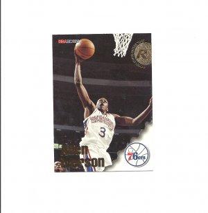Allen Iverson 1996-97 Skybox Hoops Rookie Card #295 Philadelphia 76ers