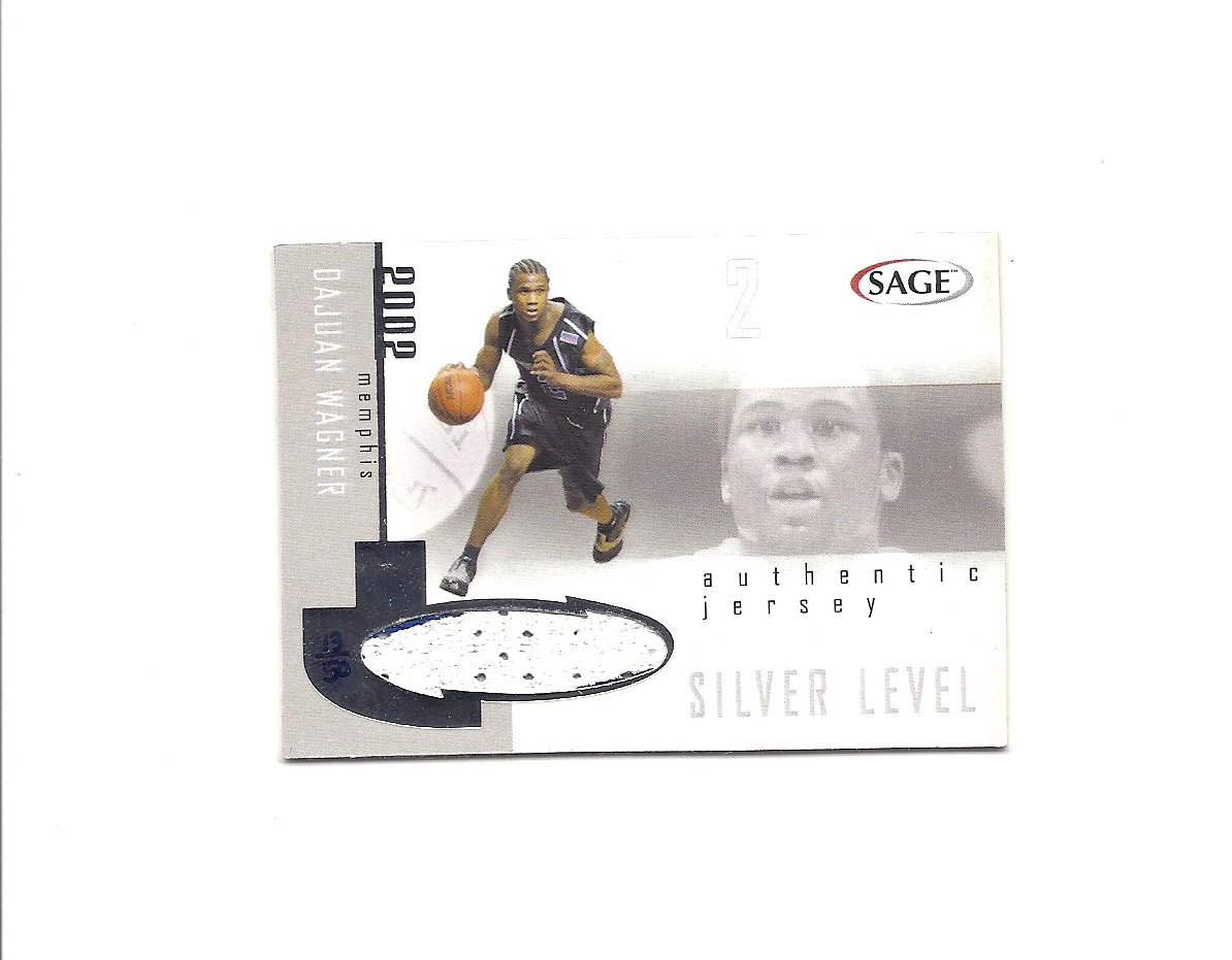 DaJuan Wagner 2002 SAGE Silver Rookie Jersey #DWJ (13/50) Cleveland Cavaliers
