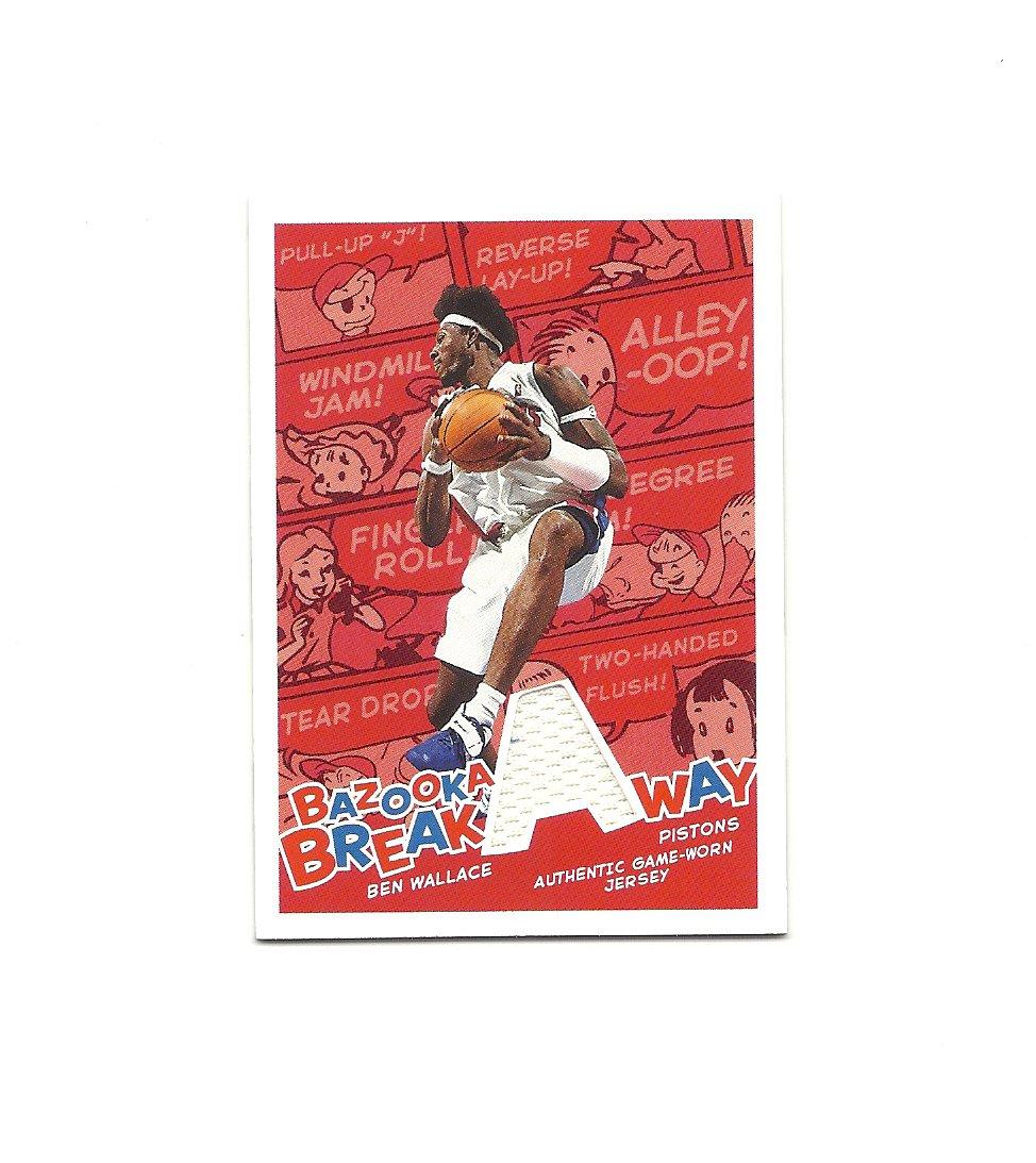 Ben Wallace 2004-05 Bazooka Breakaway Jersey Card #BA-BW Detroit Pistons