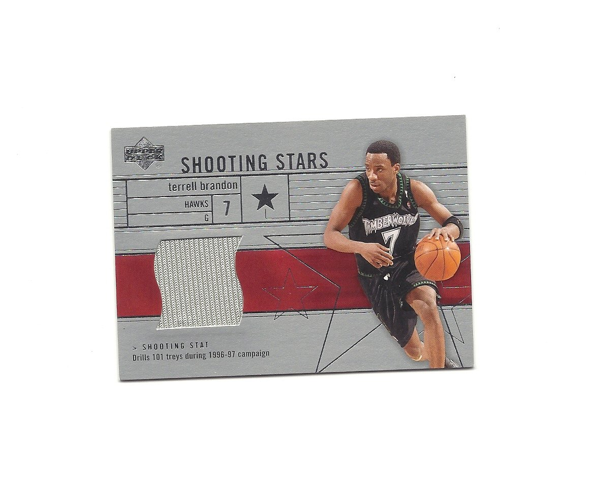 Terrell Brandon 2003-04 Upper Deck Shooting Stars Jersey #SS-TB Minnesota Timberwolves/Atlanta Hawks