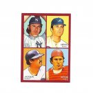 Sparky Lyle/Phil Niekro/Reggie Jackson/Johnny Bench 2009 4 in 1 Goudey #1 New York Yankees