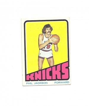 Phil Jackson 1972-73 Topps Rookie #32 New York Knicks
