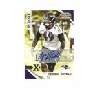 Sergio Kindle 2010 Panini Gridiron Gear Gold X's Rookie Auto #241 Baltimore Ravens