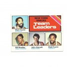 Walt Frazier, Bill Bradley, John Gianelli 1975-76 Topps Knicks Leaders #128 New York Knicks