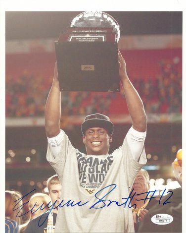 """""""Geno"""" Smith Autographed 8x10 West Virginia Mountaineers/New York Jets JSA Certification #H48214"""