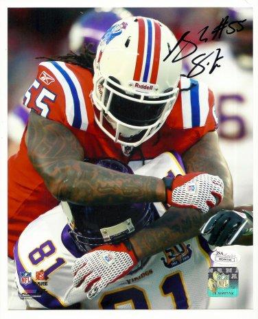 Brandon Spikes Autographed 8x10 New England Patriots/Buffalo Bills JSA Certification #W344154
