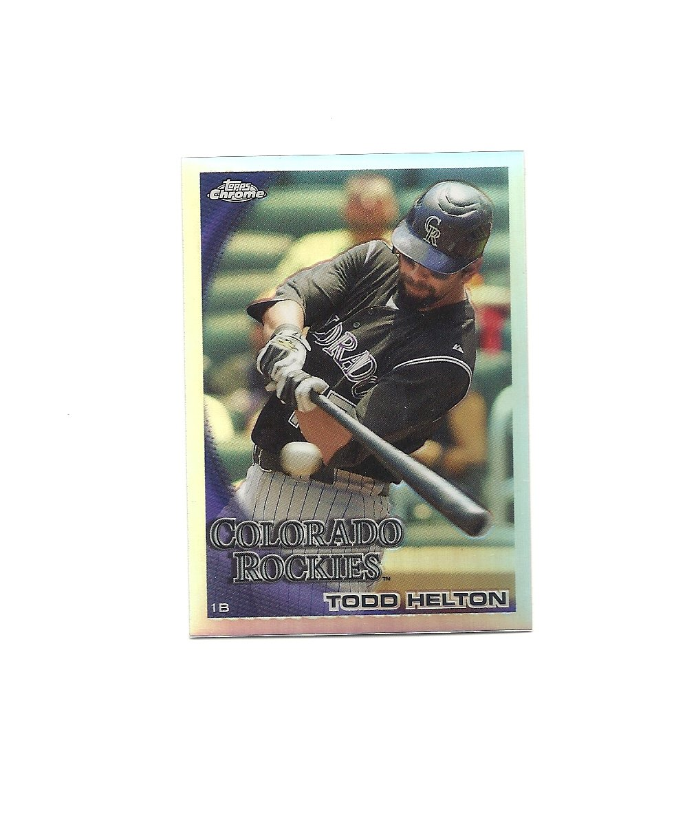 Todd Helton 2010 Topps Chrome Refractor #104 Colorado Rockies