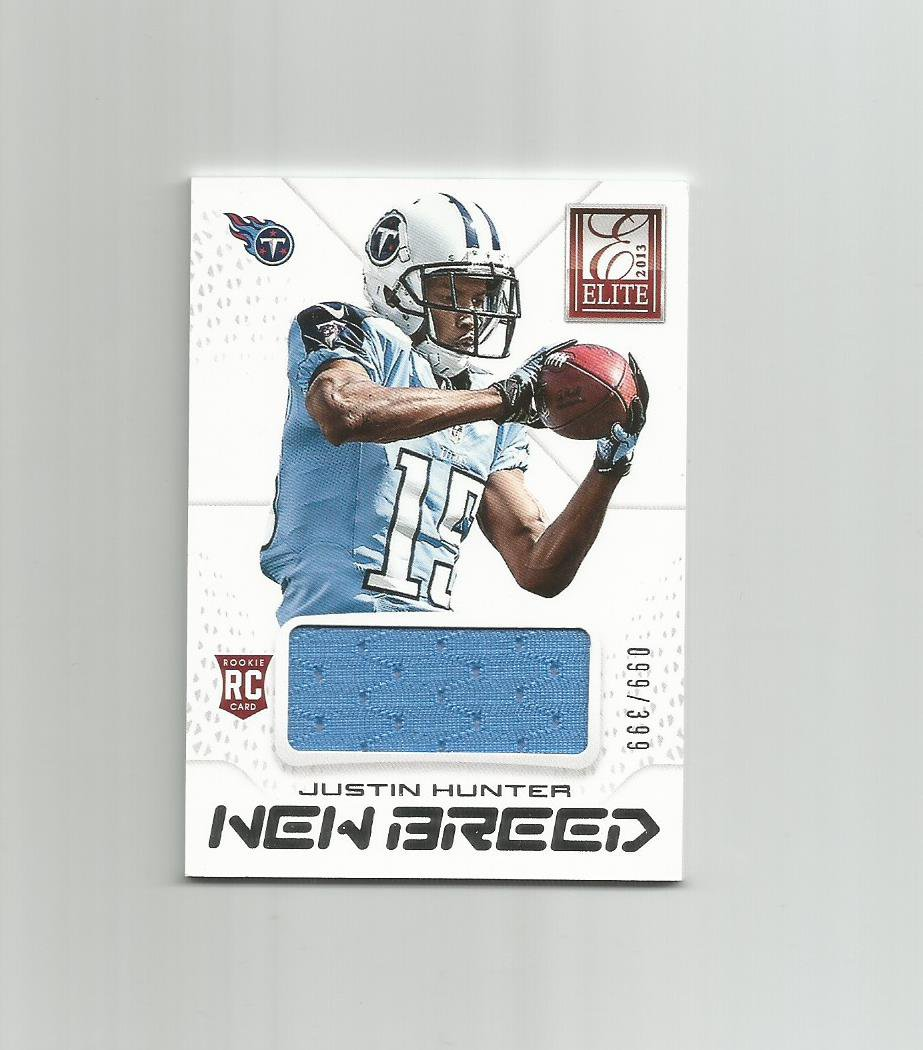 Justin Hunter 2013 Panini Elite New Breed Rookie Jersey #14 (099/399) Tennessee Titans