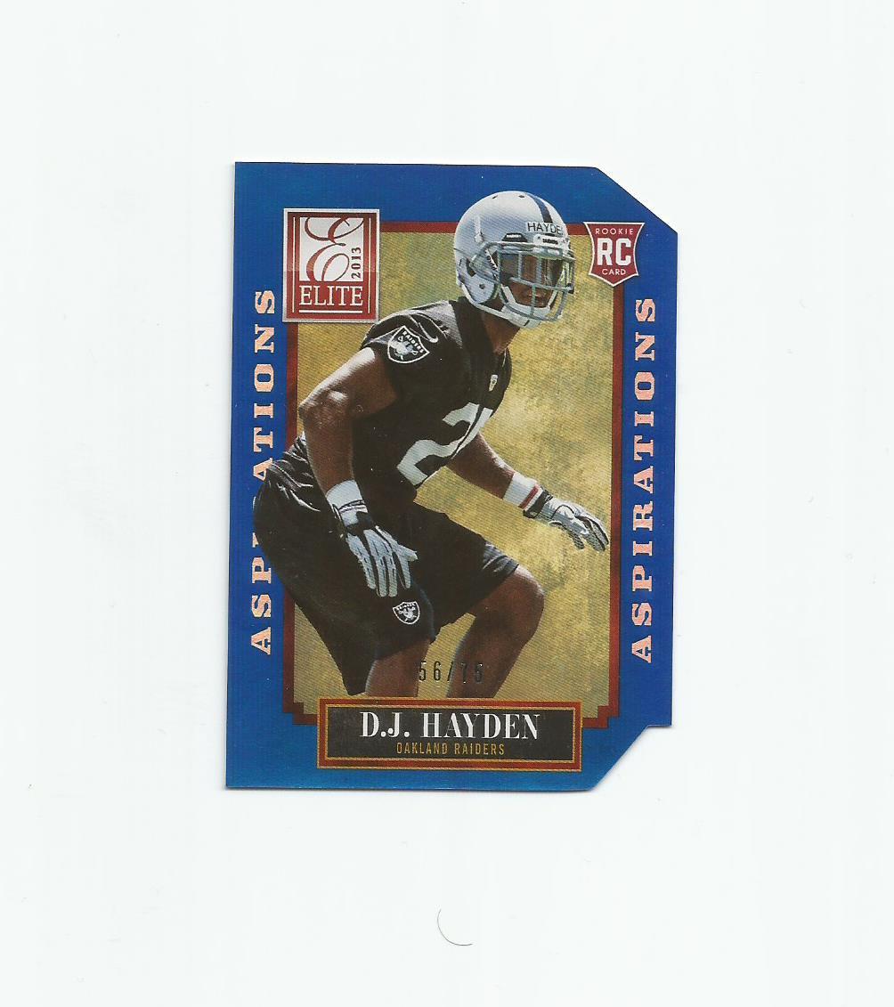 D.J. Hayden 2013 Elite Aspirations Rookie #115 (56/75) Oakland Raiders