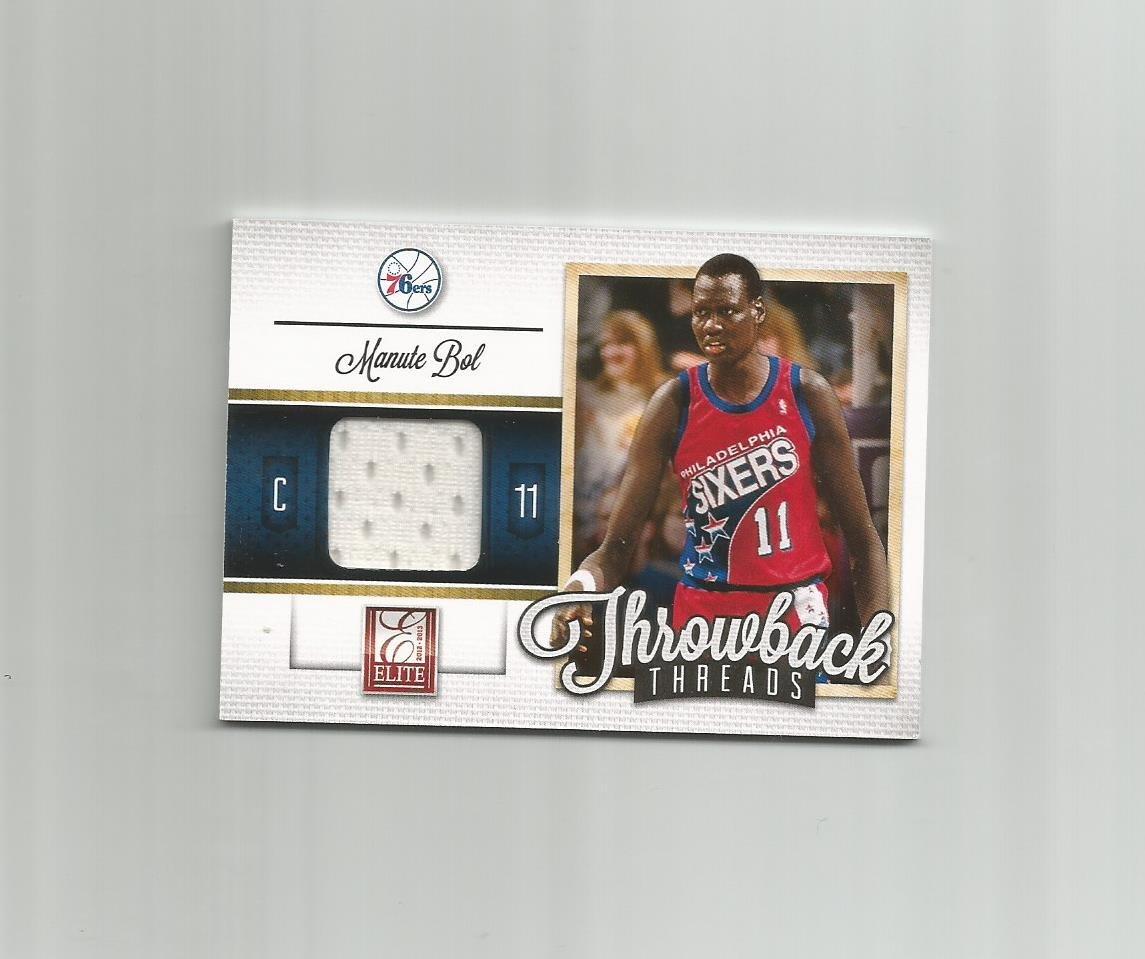 Manute Bol 2012-13 Panini Elite Throwback Threads #23 Philadelphia 76ers