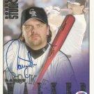 Larry Walker Autographed 1998 Donruss Studio 8x10 Colorado Rockies PSA/DNA Certification # W21739