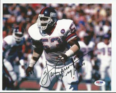 Harry Carson Autographed 8x10 New York Giants PSA/DNA Certification #Z55931