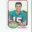 Earl Morrall 1976 Topps Autograph #93 Miami Dolphins