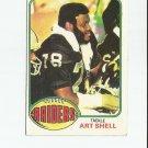 Art Shell 1976 Topps #380 Oakland Raiders