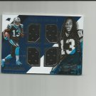 Kelvin Benjamin 2014 Absolute Tools of the Game Rookie Quad Patch #QKB (143/249) Carolina Panthers