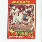 Joe Kapp 1971 Topps #145 New England Patriots