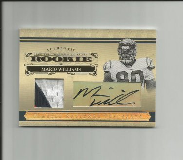 Mario Williams 2006 National Treasures Jersey Rookie Auto #109 (12/25) Houston Texans