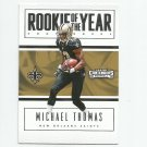Michael Thomas 2016 Panini Contenders Rookie of the Year insert rookie #9 New Orleans Saints