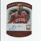 LAvoy Allen 2013-14 Panini Elite Turn of the Century Autograph #18 (003/100) Philadelphia 76ers
