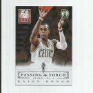Rajon Rondo/Oscar Robertson 2013-14 Panini Elite Passing the Torch #18 Boston Celtics
