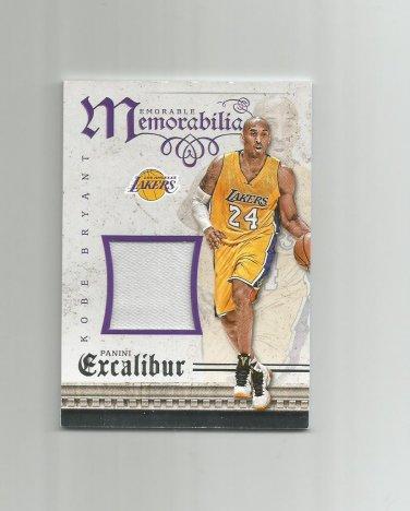 Kobe Bryant 2015-16 Panini Excalibur Memorable Memorabilia Patch #10 Los Angeles Lakers
