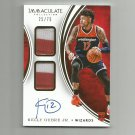 Kelly Oubre Jr. 2015-16 Panini Immaculate Dual Patch Rookie Auto #DPAKOU (25/75) Washington Wizards