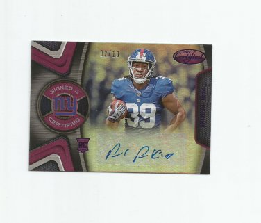 Paul Perkins 2016 Panini Certified Purple Autographed Rookie #SCPP (02/10) New York Giants