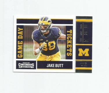 Jake Butt 2017 Panini Contenders Draft Picks Game Day Tickets Rookie Insert #12 Denver Broncos