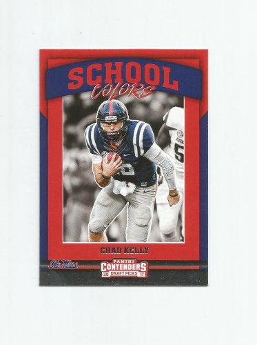 Chad Kelly 2017 Panini Contenders Draft Picks School Colors Rookie Insert #13 Denver Broncos