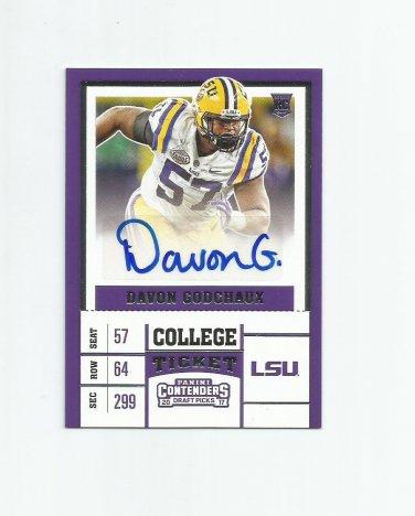 Davon Godchaux 2017 Panini Contenders Draft Picks Rookie Autograph #269 Miami Dolphins