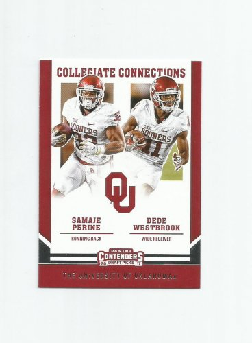 Samaje Perine & Dede Westbrook 2017 Contenders Collegiate Connections #6 Redskins/Jaguars