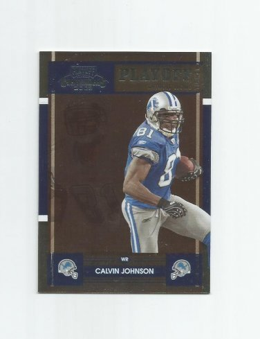 Calvin Johnson 2008 Playoff Contenders Playoff Ticket #36 (95/99) Detroit Lions