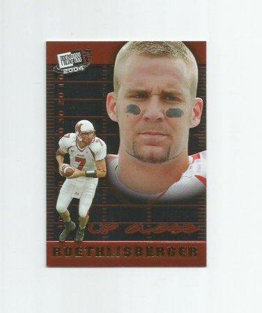Ben Roethlisberger 2004 PressPass SE Up Close Rookie Insert #UC4 Pittsburgh Steelers