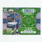 T.Y. Hilton 2017 Panini Unparalleled Zoned In Lime Green Insert #Z15 (058/199) Indianapolis Colts