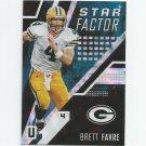 Brett Favre 2017 Panini Unparalleled Star Factor Insert #SFBF Green Bay Packers