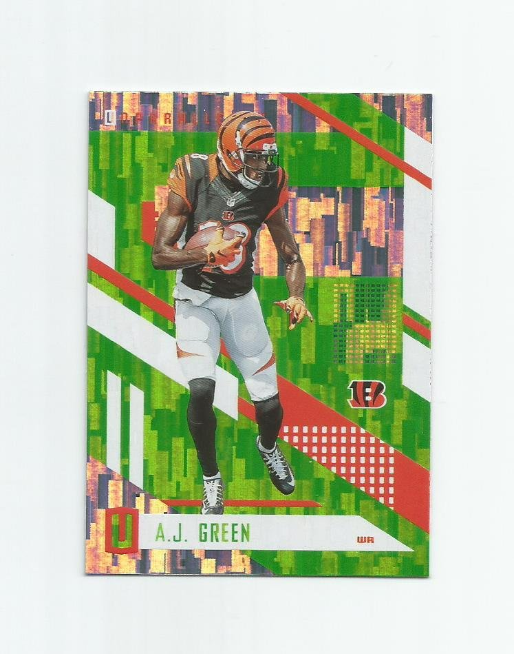 A.J. Green 2017 Panini Unparalleled Wind Chimes Insert #38 Cincinnati Bengals
