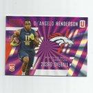 De;Angelo Henderson 2017 Panini Unparalleled Rainbow Spokes Rookie #296 (017/149) Denver Broncos
