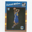 Patrick McCaw 2016-17 Donruss Rookie #181 Golden State Warriors