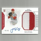 Jerad Eickhoff 2016 Panini National Treasures Autographed Rookie Patch #171 Philadelphia Phillies