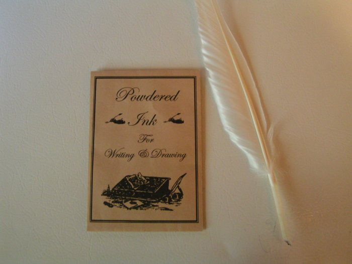 POWDERED INK with FREE FEATHER QUILL - FREE SHIPPING