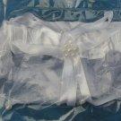 WHITE GARTER BELT, WEDDING - FREE SHIPPING